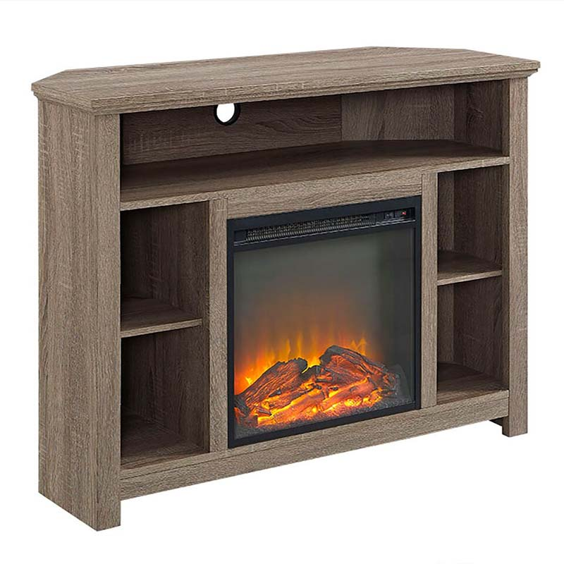 Walker Edison Corner Fireplace Tv Stand Driftwood W44fphbcag