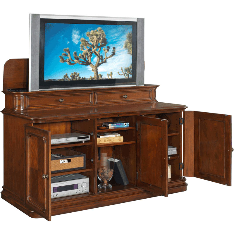 Tv Lift Cabinet Banyan Creek For 40 60 Inch Screens Stained At004310