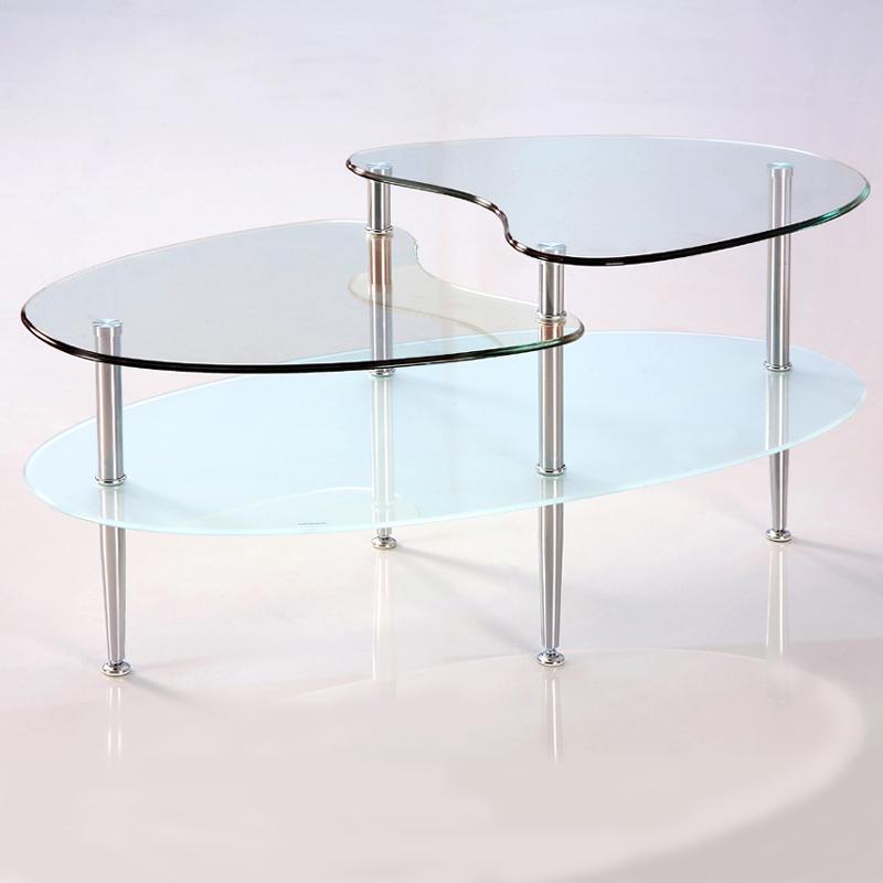 Walker Edison 38 Inch Mariner Gl Oval Coffee Table C38b5