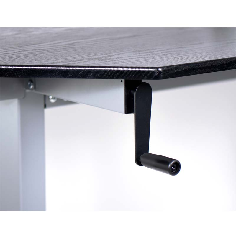 Luxor Adjustable Height Stand Up Corner Desk Silver and Black STANDUP-CCF60-B