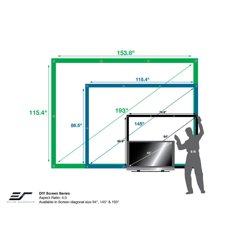 Elite Screens Diy Outdoor Rear Projector Screens Various