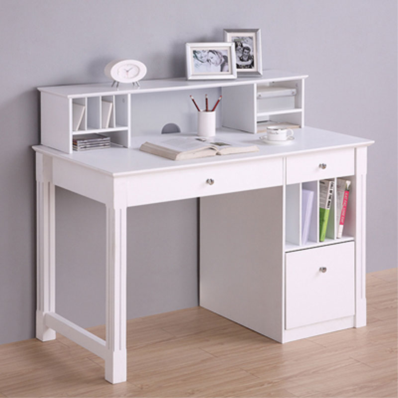 white desk for bedroom walker edison deluxe home office writing desk with storage 17829