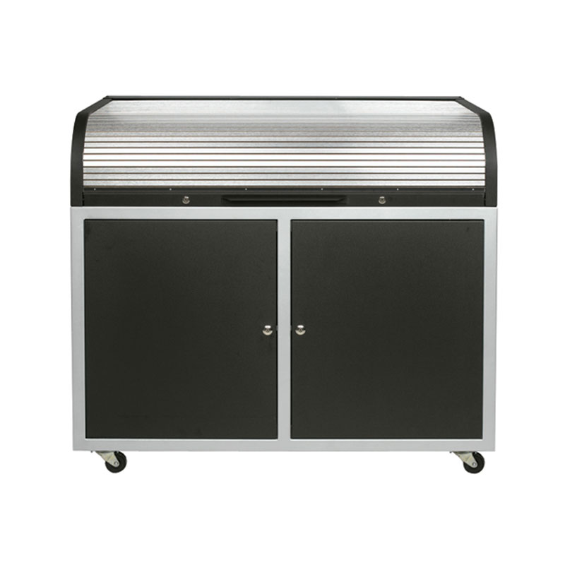 View A Larger Image Of The Chief Raxs Steel Elite Roll Top Desk Black