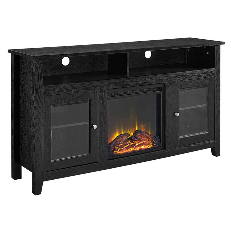 Walker Edison Highboy Fireplace Tv Stand For 60 Inch