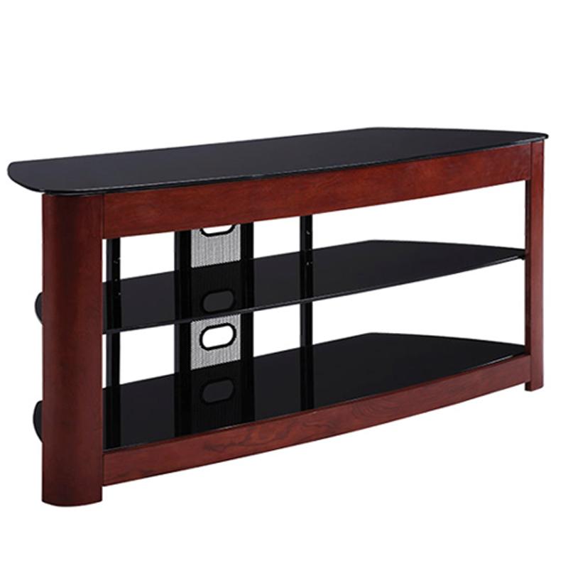 Haropa 49 Wood Glass Tv Stand Dark Cherry Hpo2445dc