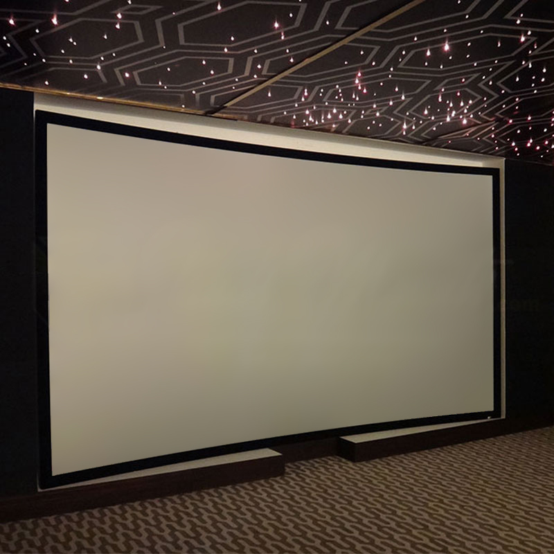 Elite Screens Lunette Series Curved Frame Fixed Projector