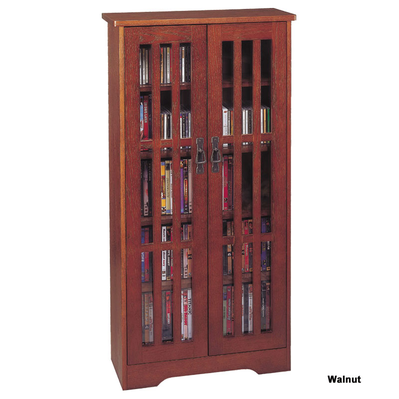 Leslie Dame Cd Storage Cabinet With Glass Doors Oak Walnut Or Dark Cherry M 371