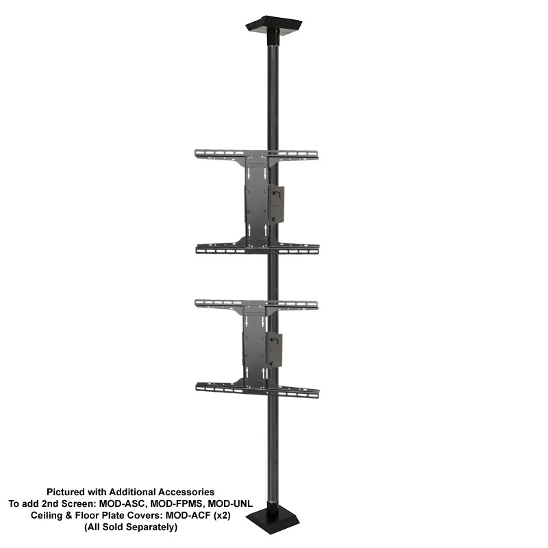 Rless Modular Series Floor To Ceiling Tv Mount Kit Black Mod Fcskit300 B