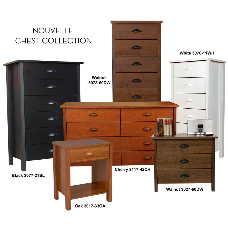 Nouvelle 6-Drawer Dresser Cherry