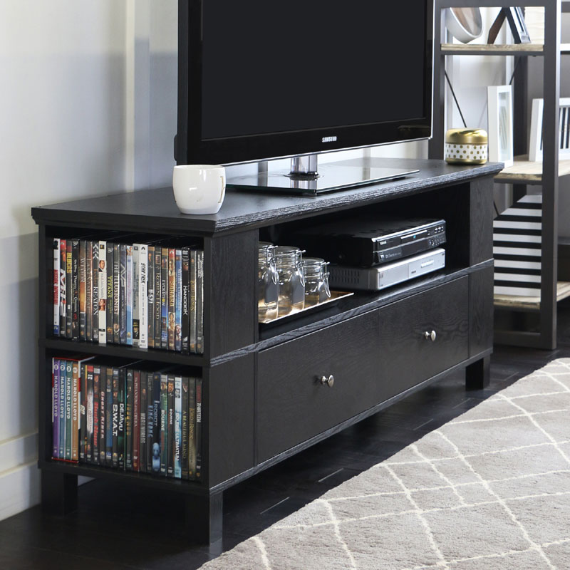 Walker Edison 65 Inch Tv Stand With Multimedia Storage