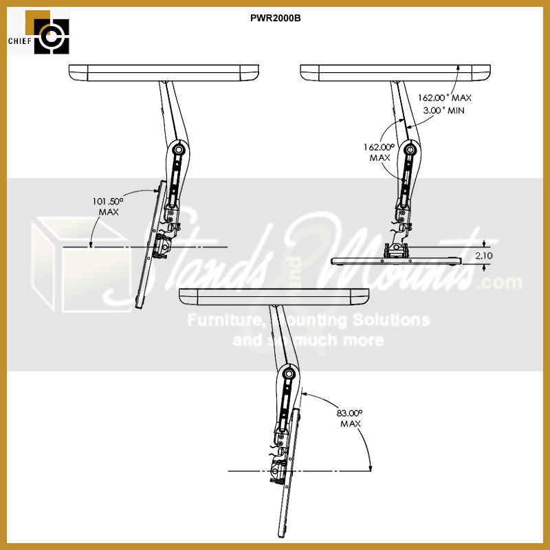 Chief Reaction Series Single Swing Arm Flat Panel Wall