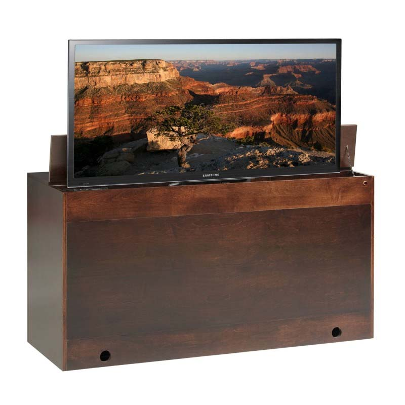 Tv Lift Cabinet Queen Footboard Tv Lift Desk With Bench Espresso At006576