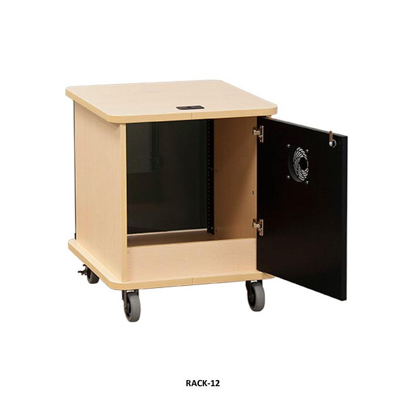 Audio Visual Furniture Vfi 16ru Deluxe Mobile Av Rack Various Finishes 16