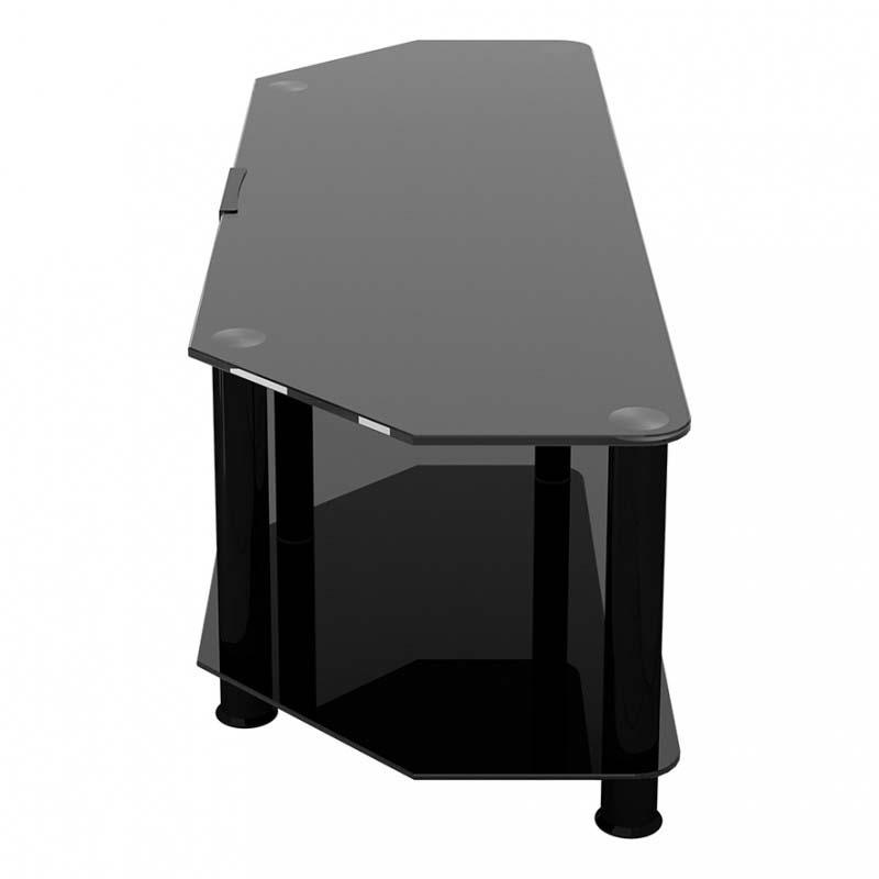 avf sdc series black glass 65 inch corner tv stand black sdc1400cmbb a. Black Bedroom Furniture Sets. Home Design Ideas