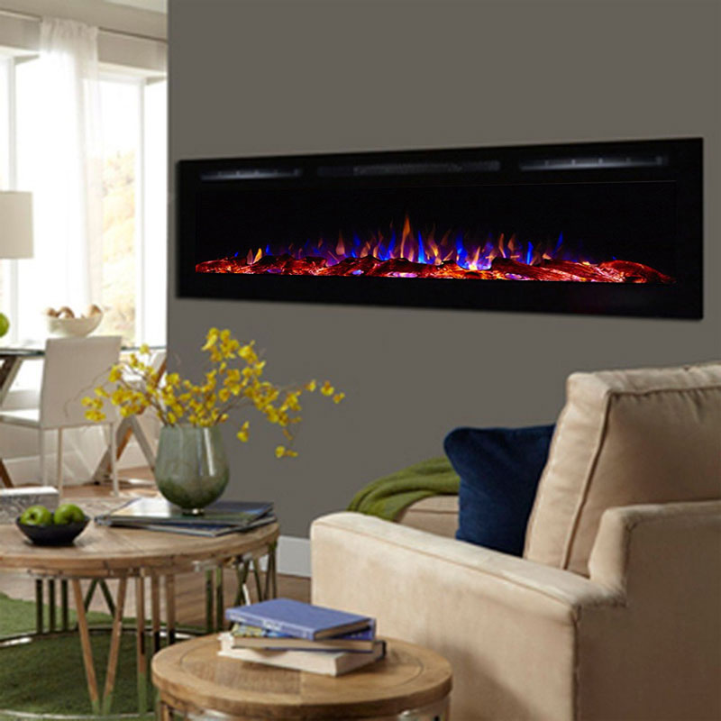 product electric black poundshrinker westminister panel fireplace glass