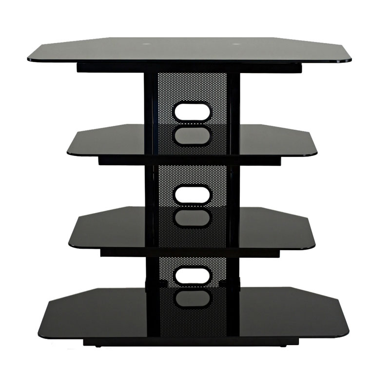 TransDeco Multifunction Audio Stand For 22 35 Flat Screen TVs (Black)  TD510CB