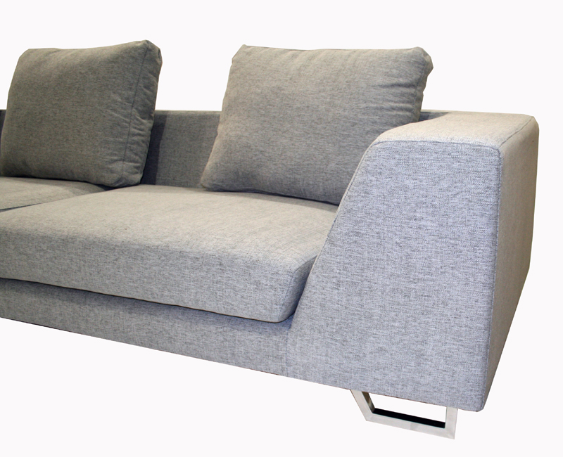 Whole Interiors 2 Piece Twill Sofa Sectional Grey Td6301 Mecue 03