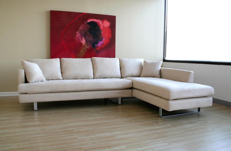 Beau Wholesale Interiors 2 Piece Microfiber Sofa Set (Off White) TD7814 KF 08