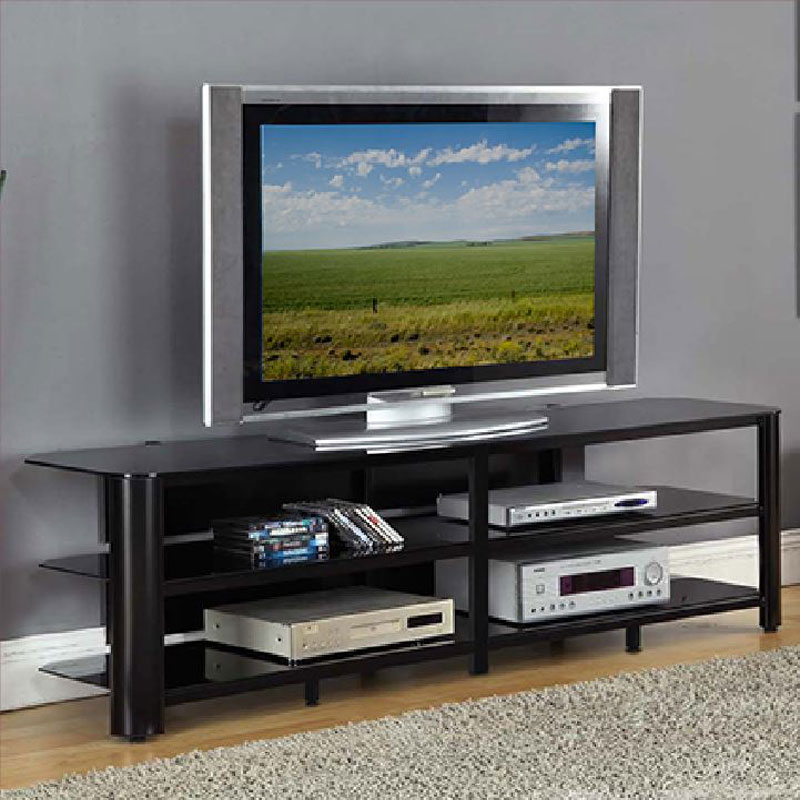 75 inch tv stand Innovex Oxford Series 75 inch Flat Screen TV Stand Black Glass  75 inch tv stand