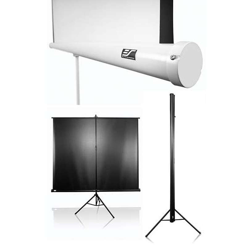 Elite Screens Tripod Series 1 1 Portable Pull Up Projector Screens Various Sizes Tripod T