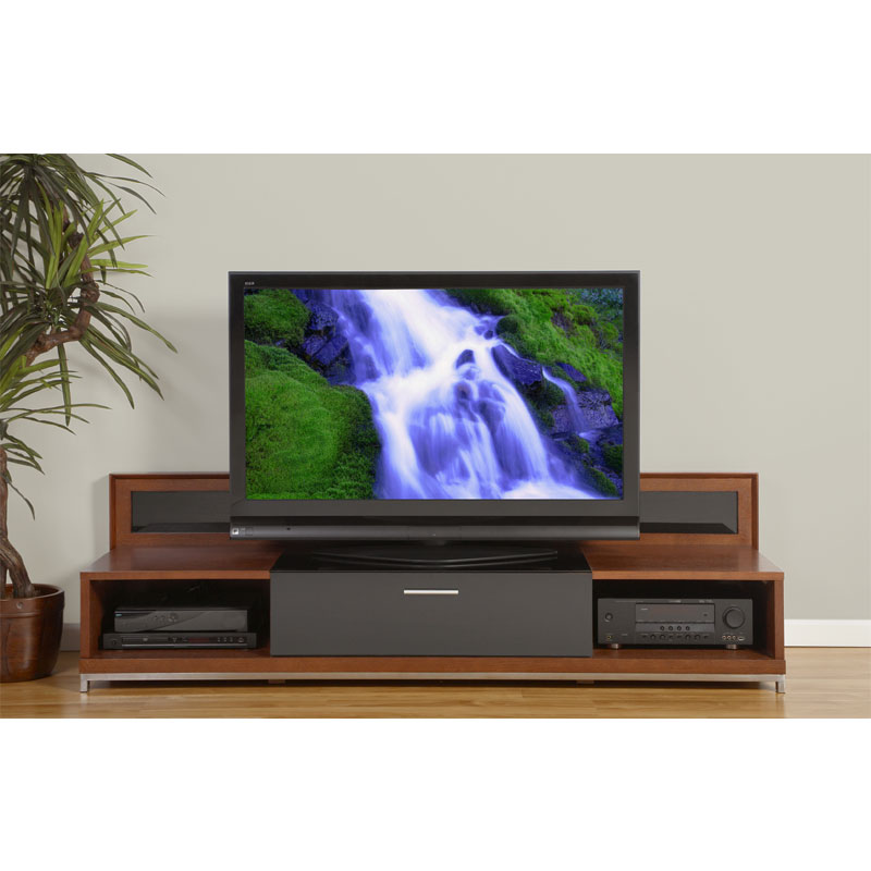 Plateau Backlit Modern TV Stand For 51 80 In. TVs (Walnut) VALENCIA 79 (W)