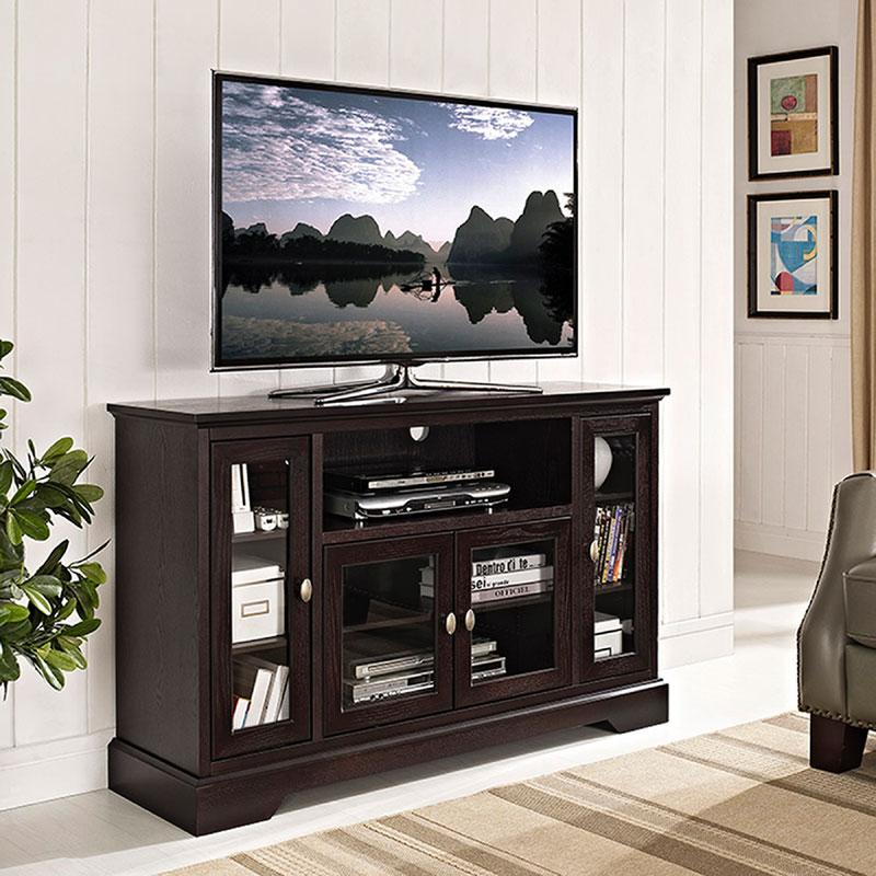 Walker Edison Antique Style Highboy 55 Inch Tv Cabinet