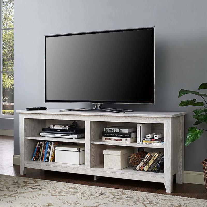 Walker Edison Open Shelf 60 Inch Tv