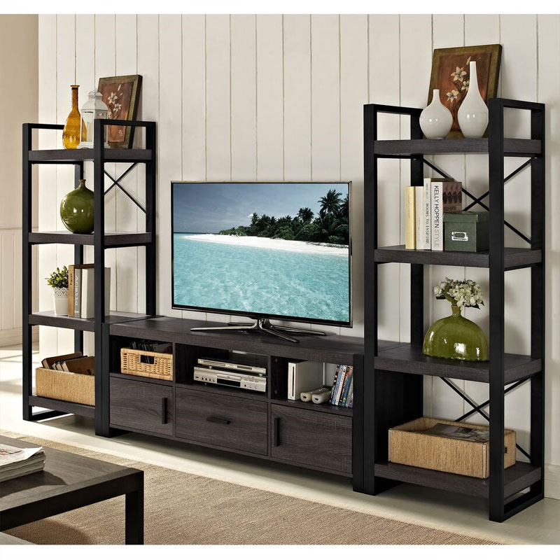Online Apartment Finder: Walker Edison Angelo Home City Grove 65 In TV Stand Charcoal W60CGS1CL