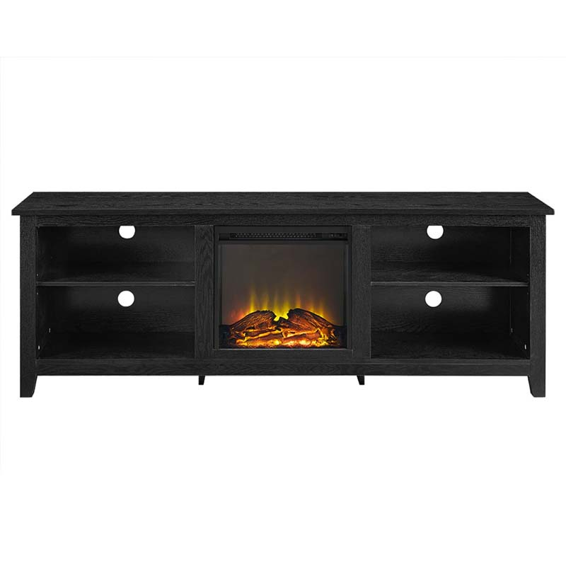 Walker Edison 70 inch TV Stand with Electric Fireplace ...