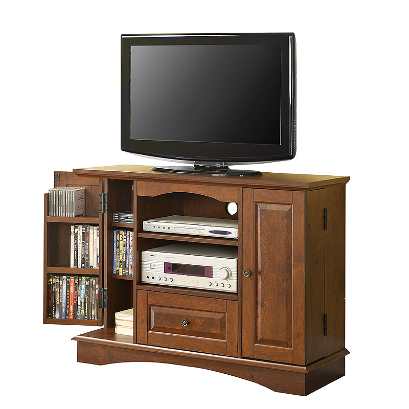 View A Larger Image Of The Walker Edison Highboy 48 In. TV Console With  Media