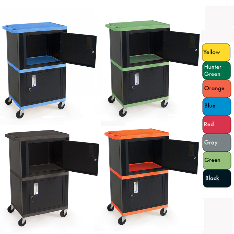 Exceptionnel View A Larger Image Of The H. Wilson Mobile Tuffy Cart With Two Lockable  Cabinets