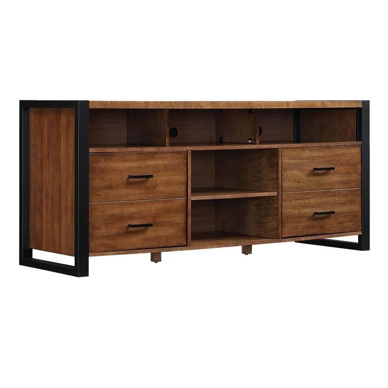 Bello Solid Wood 70 In Tv Console Old World Birch Tc6350005z380