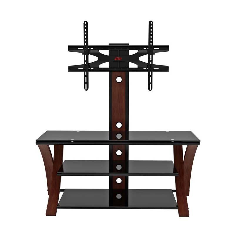 Z Line Designs Makena 3 In 1 Black Glass 60 Inch Tv Stand With Integrated Mount Cherry Zl434 50mxviiu