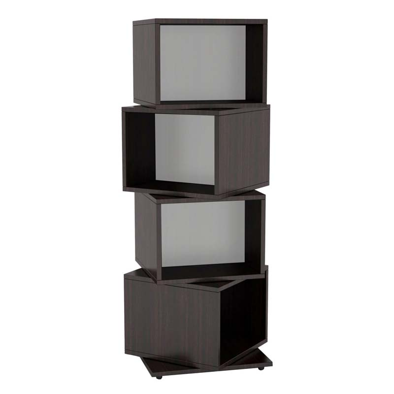 Atlantic Rotating Cubes Media Tower (Espresso) 28235872  sc 1 st  Stands and Mounts & Atlantic Rotating Cubes Media Tower Espresso 28235872