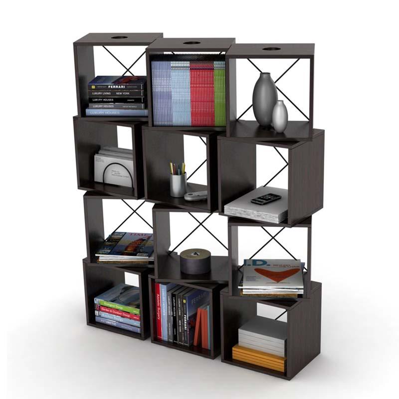 Bon Atlantic Rotating Cubes Media Tower (Espresso) 28235872