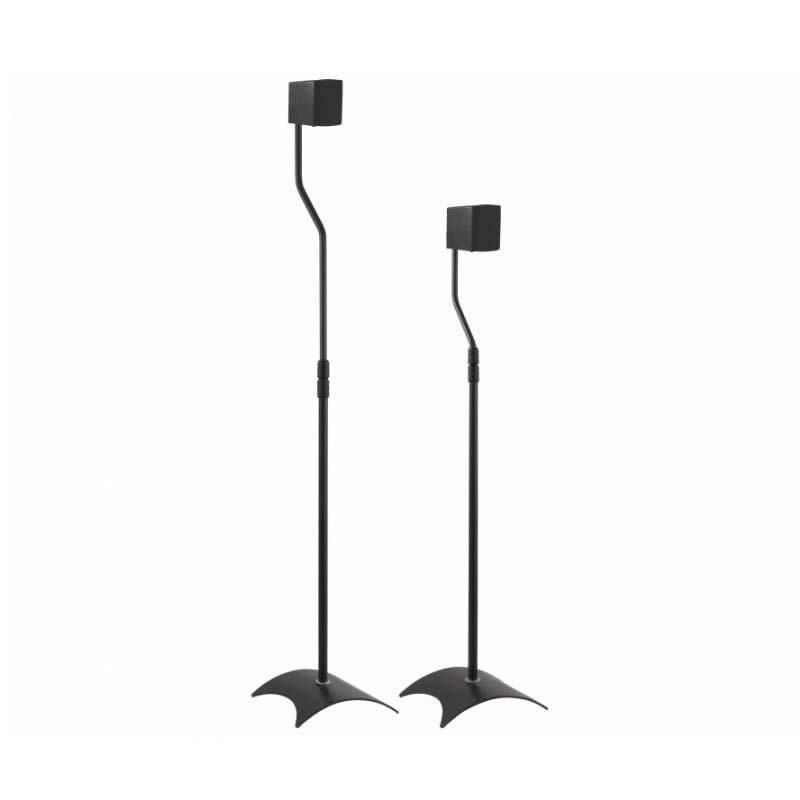 AVF Pair of Universal Surround Sound Speaker Stands (Black) EAK8B-A