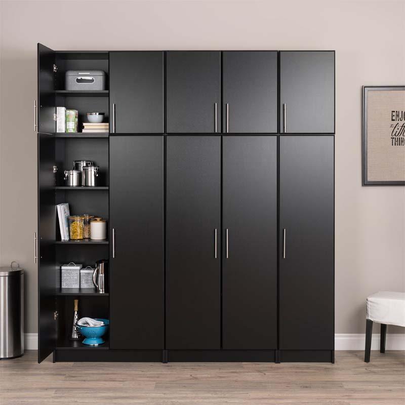 Prepac Elite Collection Tall 2 Door Cabinet Black Bes 3264