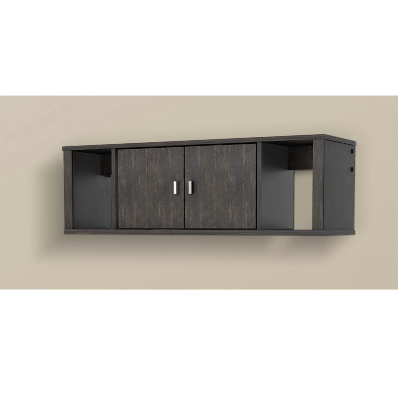 Prepac Designer Wall Mounted Floating Hutch Ebony Hsuw 0502 1
