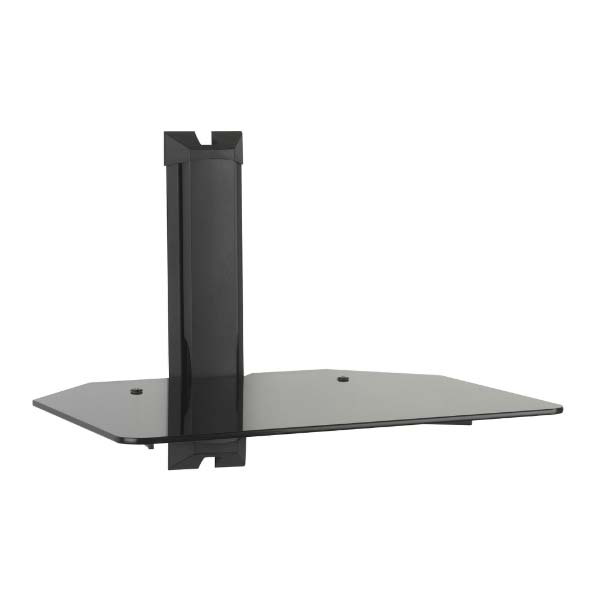 Omnimount Low Profile Component Wall Shelf Black Glass Mod1