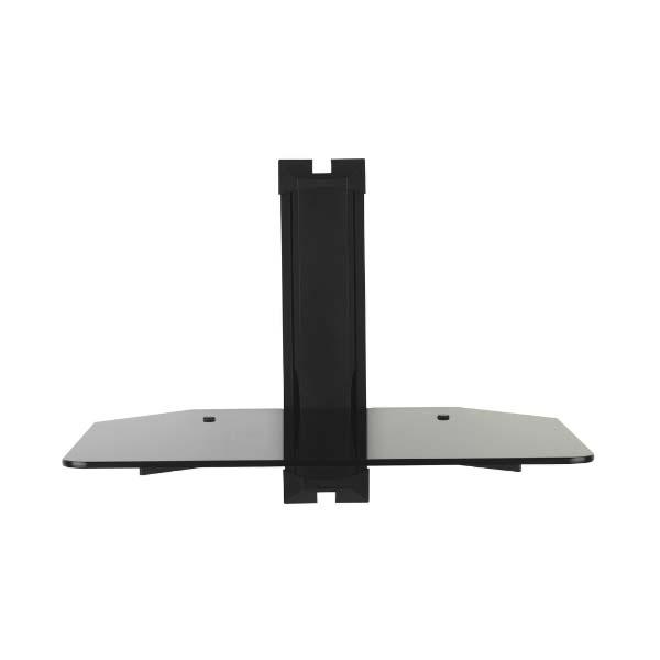 Omnimount Low Profile Component Wall Shelf Black Glass Mod1