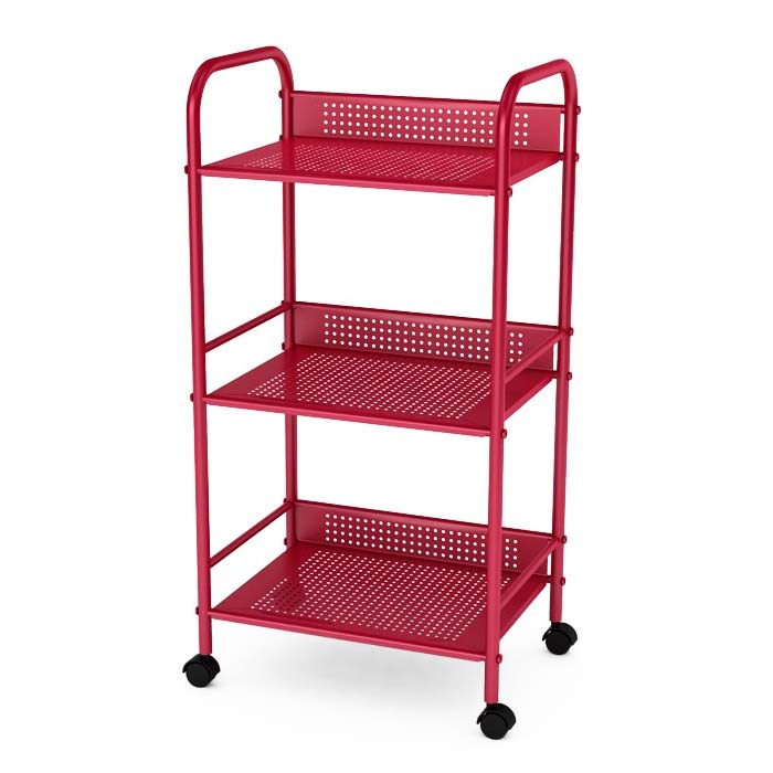 Ordinaire Atlantic 3 Tier Storage Cart On Wheels (Red) 38436006