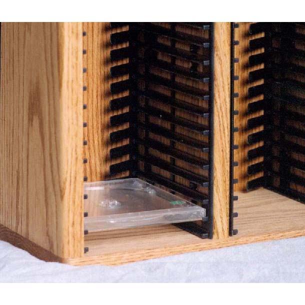 Wood Shed Solid Oak Cd Rack Tws 409 4