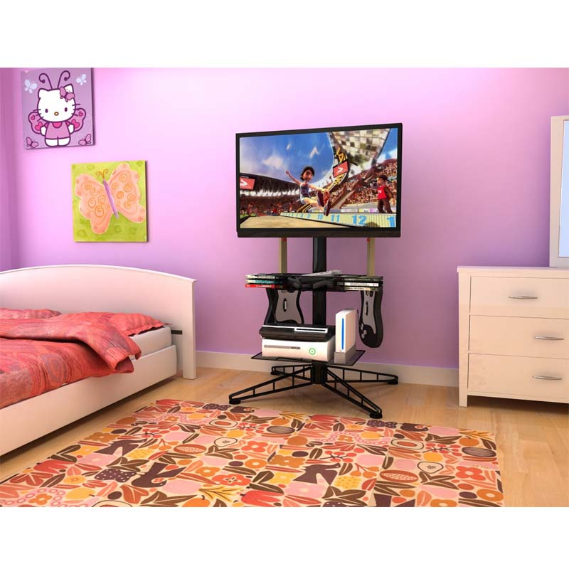 Atlantic Spyder 42 in. TV Stand with Mount and Gaming Storage Center ...