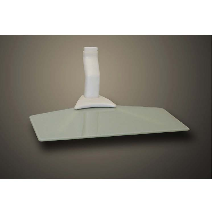 Cambre Sky Shelf Slim Single Wide Wall Mounted Component Shelf White