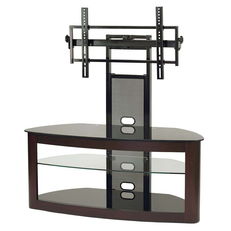 Transdeco Glass Tv Stand With Mounting System For 35 65 Inch Screens