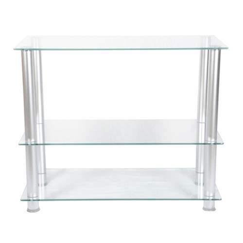 Rta Extra Tall Clear Glass And Aluminum 42 Tv Stand Tvm 002