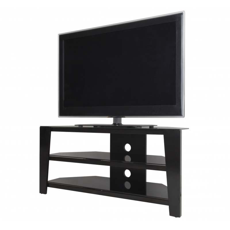 new product ec0ae fb876 AVF Vico 55 inch Corner TV Stand Glossy Black FS1050VIB-A