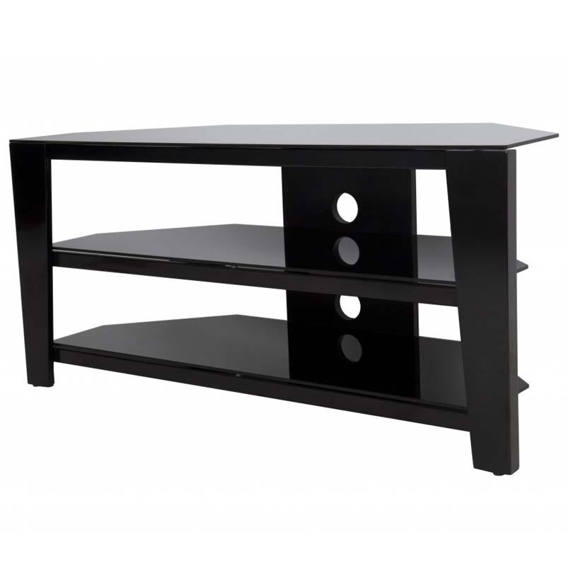 avf vico 55 inch corner tv stand glossy black fs1050vib a. Black Bedroom Furniture Sets. Home Design Ideas