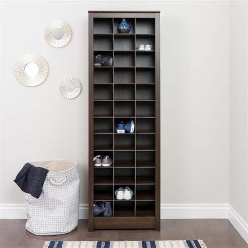View a large image of the Prepac Space Saving Shoe Storage Cabinet Espresso EUSR-0009-1 here.