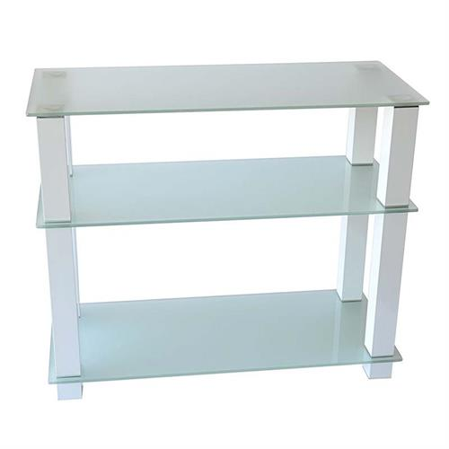 View a large image of the RTA Extra Tall Frosted Glass 42 inch TV Stand White TVM-002W here.